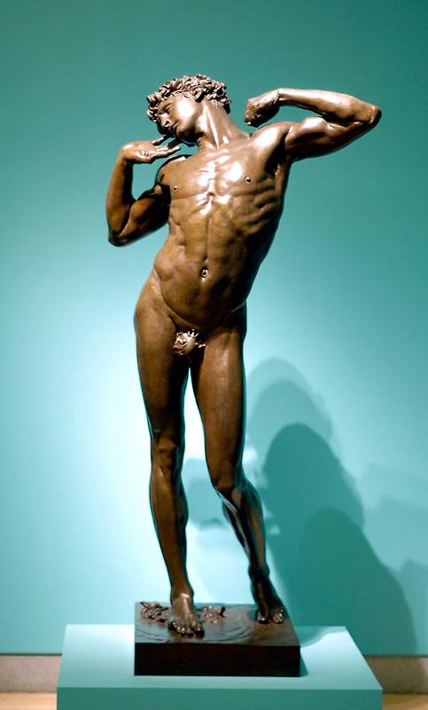Leighton_Frederic_The_Sluggard_bronze_1886