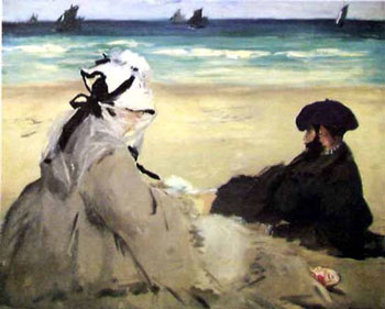 Manet_On_the_Beach_1873