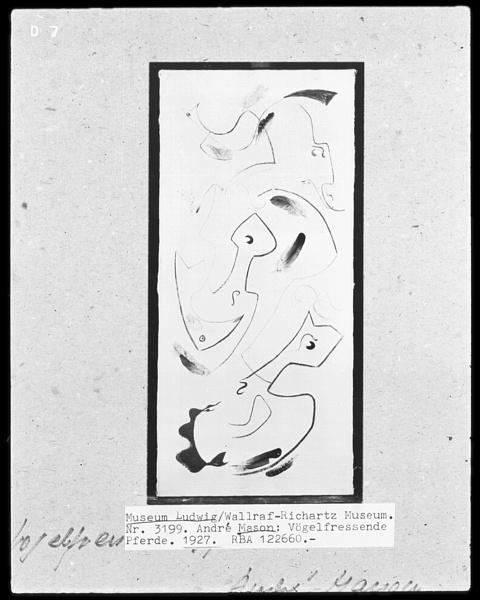 Masson_Chevaux_devorant_des_oiseaux_1927