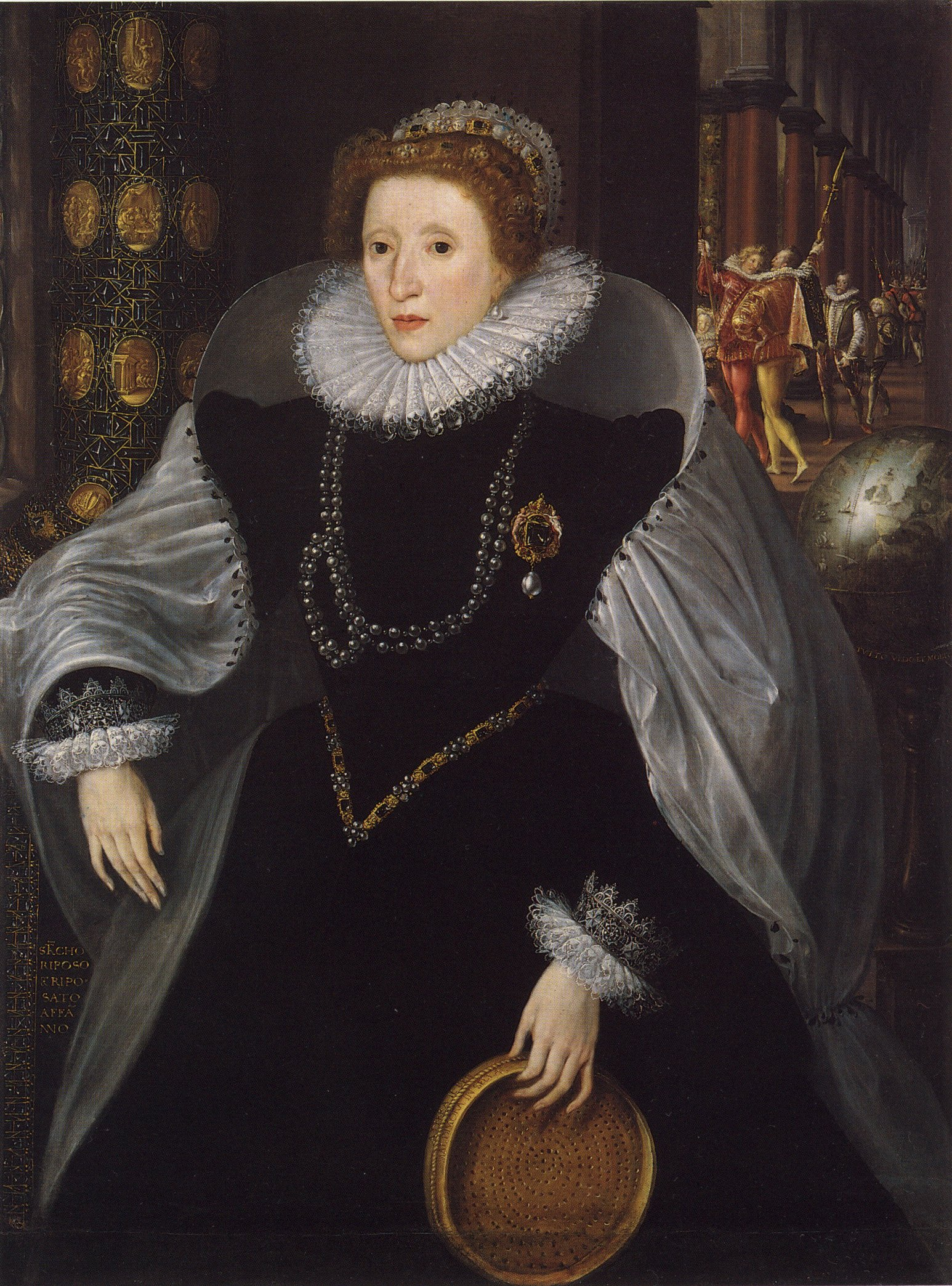 Metsys Elizabeth I The Sieve Portrait c1583