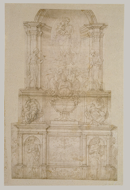 Michelangelo_First_design_for_wall_tomb_for_Julius_II
