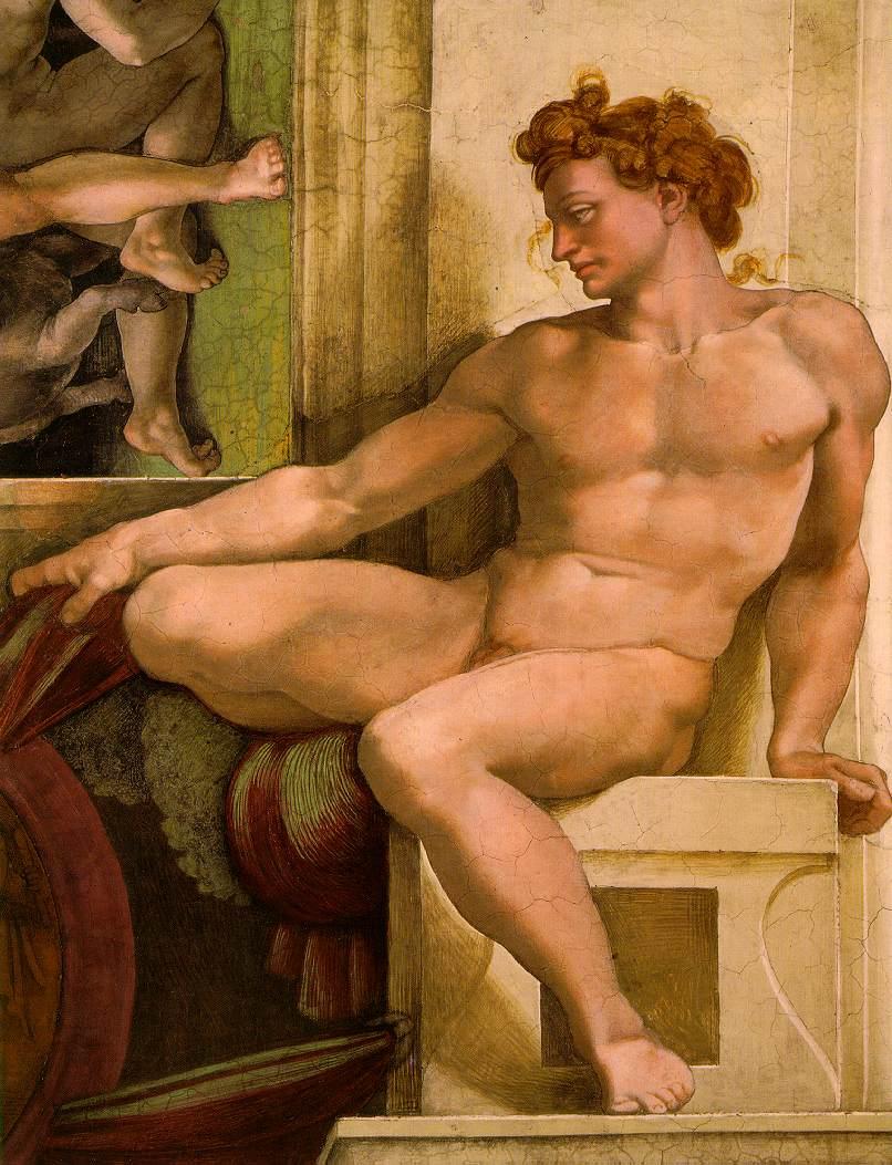 Michelangelo_Ignudo_Sistine_Chapel