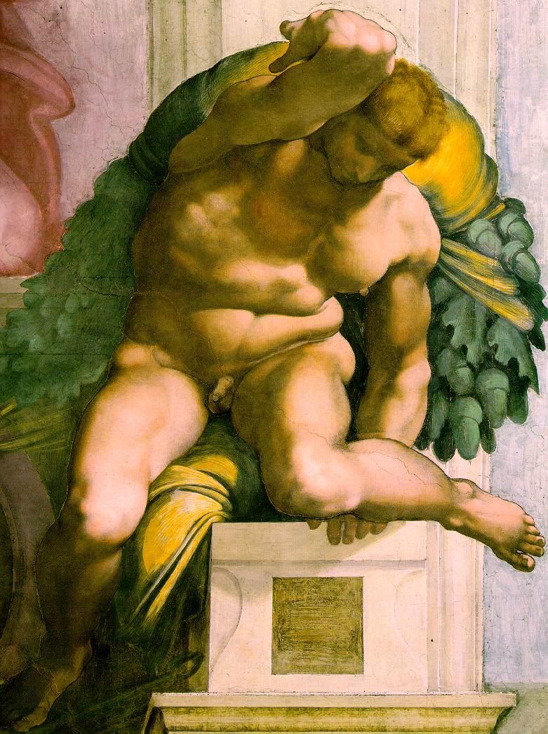 Michelangelo_Ignudo_Sistine_Chapel_3