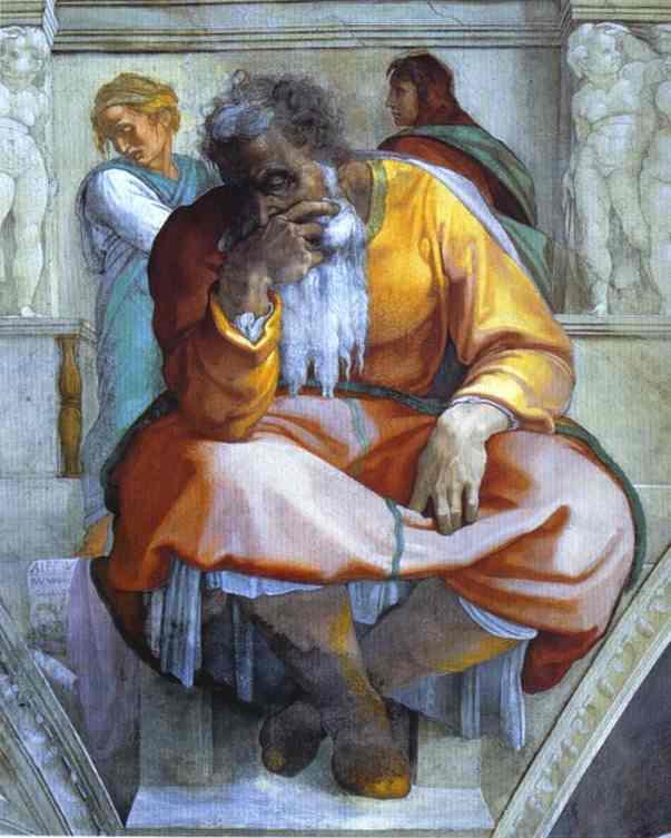 Michelangelo_Jeremiah_1508-12