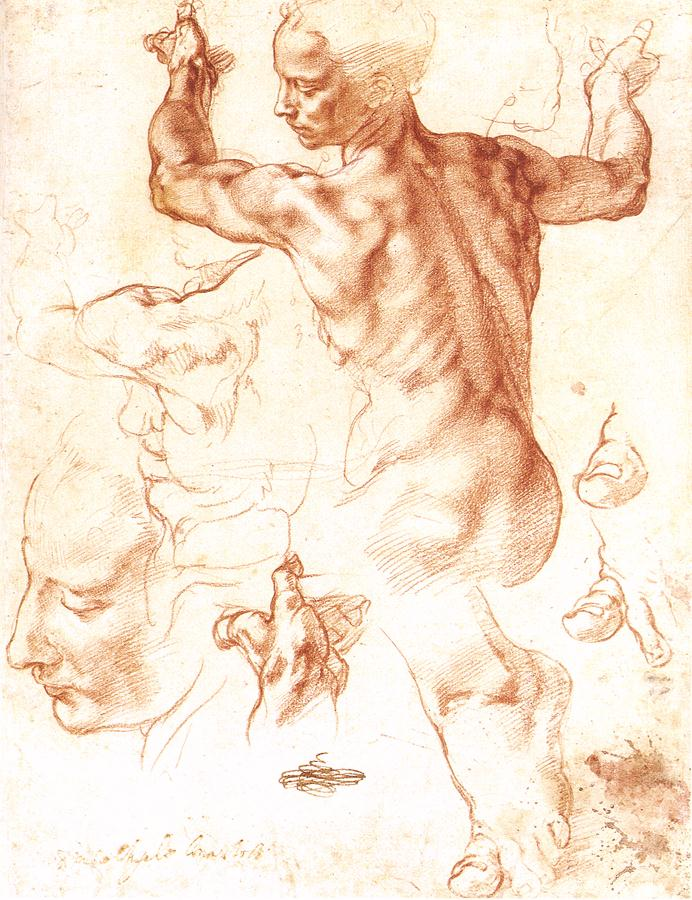Michelangelo_Study_Libyan_Sibyl_1511_chalk