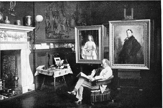 Millais_in_his_studio_photograph_1886
