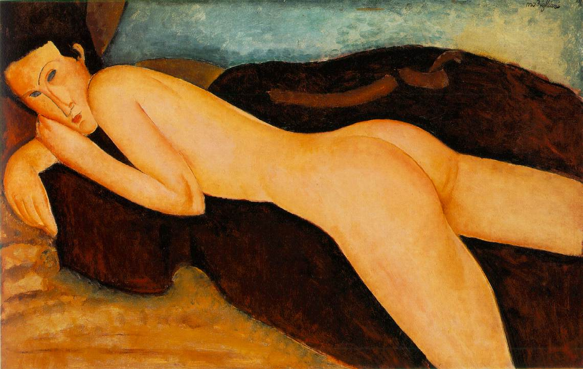 Modigliani_Reclining_Nude_from_the_Back_1917