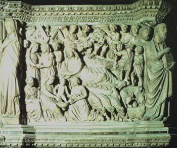 Nicola_Pisano_Siena_pulpit_Nativity