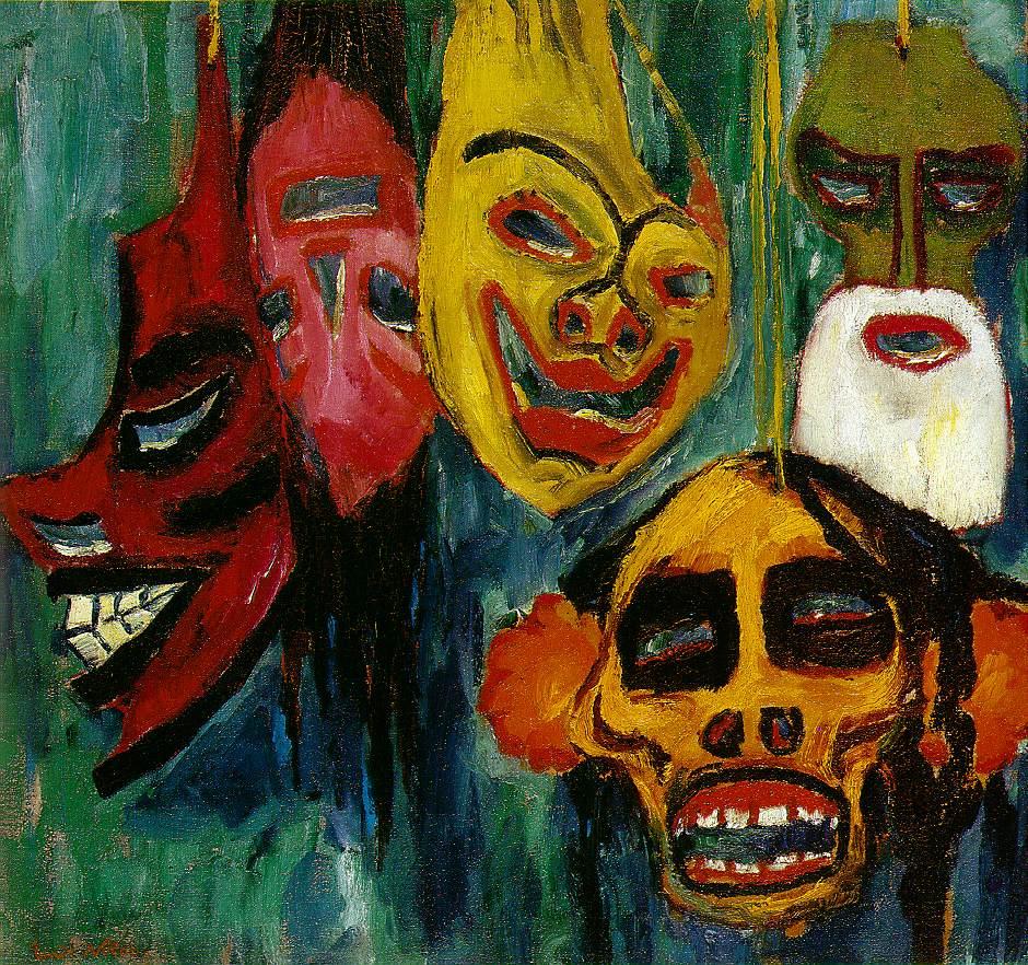 Nolde_Masks_Still_Life__III_1911