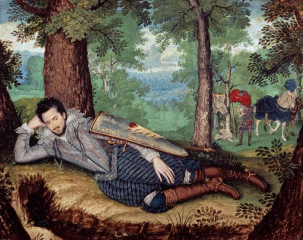 Isaac Oliver, Edward Herbert, 1st Baron Herbert of Cherbury, 1610-4
