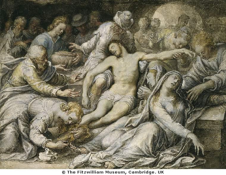 Oliver Lamentation over the Dead Christ 1584-6