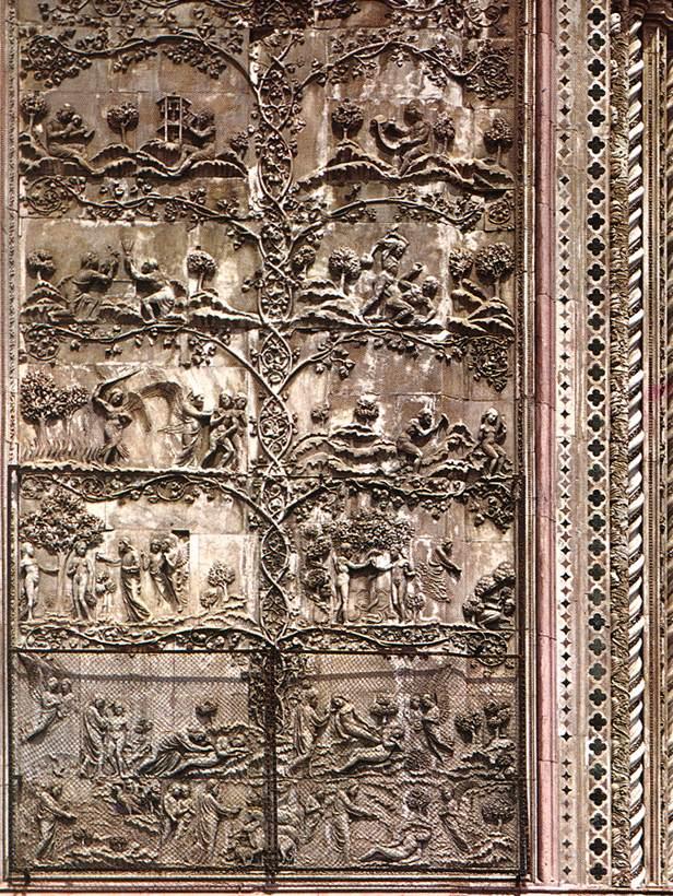 Orvieto_Duomo_First_Pillar_Story_of_Genesis