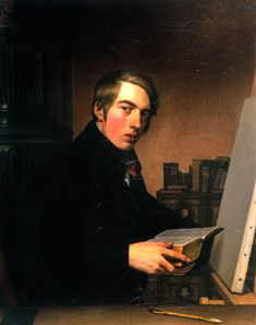 Overbeck_Self-portrait_with_Bible_1809