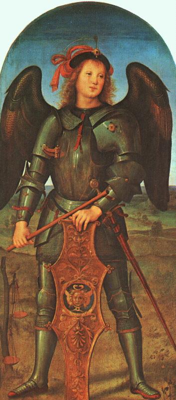 Perugino St Michael c1496-1500