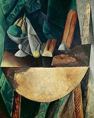 Picasso_Table_with_Loaves_and_a_Bowl_of_Fruit_1909