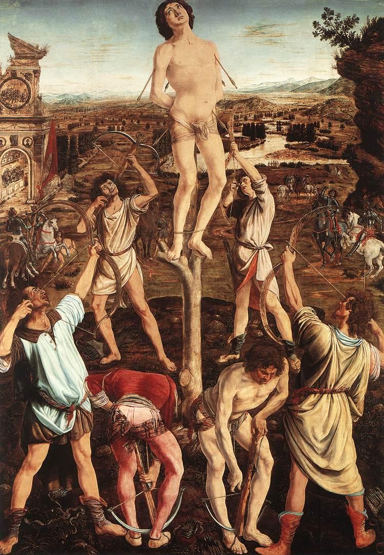 Pollaiuolo_Martyrdom_of_St_Sebastian_1473-75