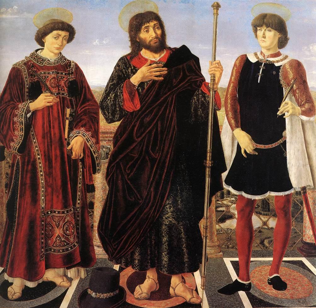 Pollaiuolo_Three_Saints_altarpiece_1466