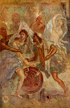 Pompeii_House_of_Dioscuri_Achilles_exposed_by_Ulysses_Scyros