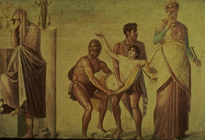 Pompeii_Sacrifice_of_Iphigenia