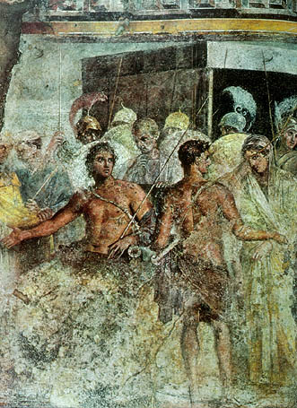 Pompeii_Surrender_of_Briseis_by_Achilles