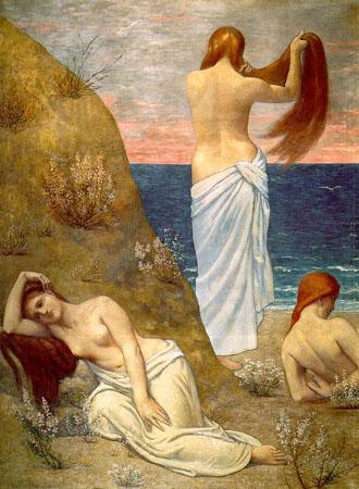 Puvis_de_Chavanne_Women_on_the_Beach_1879