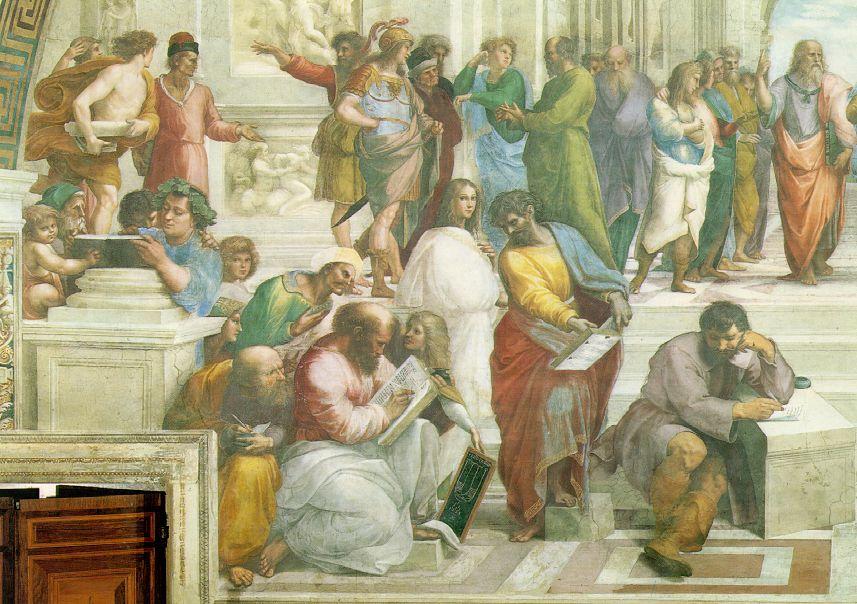 Raphael_School_of_Athens_Left_Group