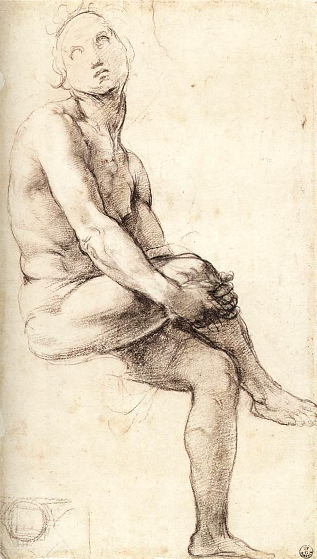 Raphael_Study_for_Adam_1509_black_chalk