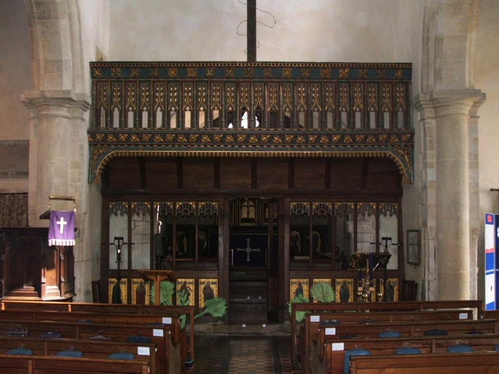 Rood Screen Avebury Wiltshire medieval