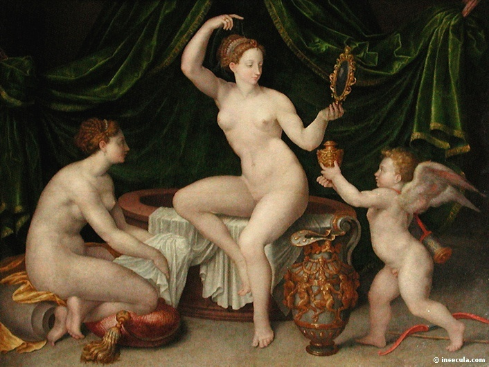 School of Fontainebleau Venus at her Toilet c1550
