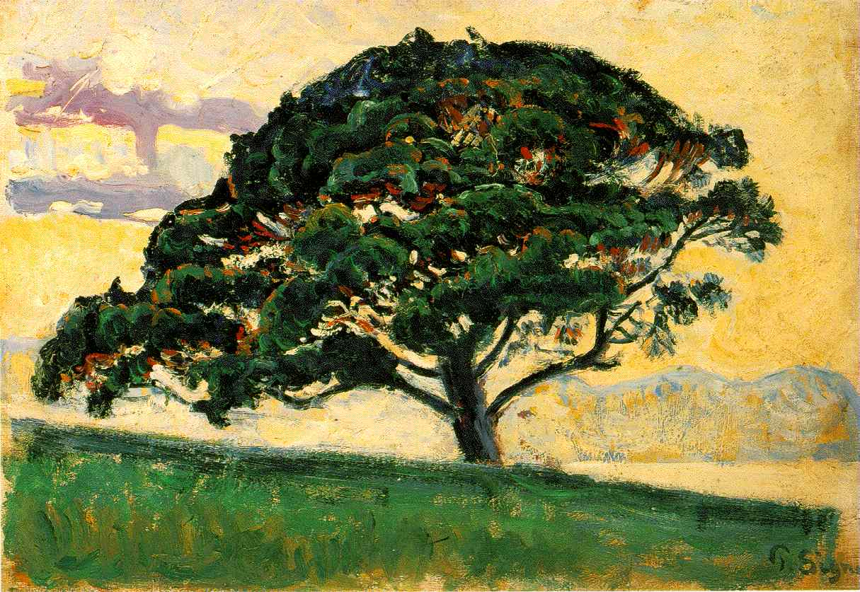 Signac_The_Large_Pine_St_Tropez_1896