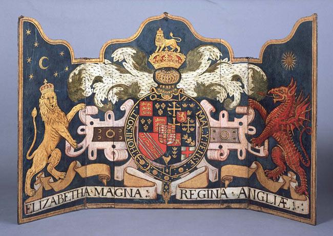 Triptych Royal Arms St Marys CHurch Suffolk 16thC