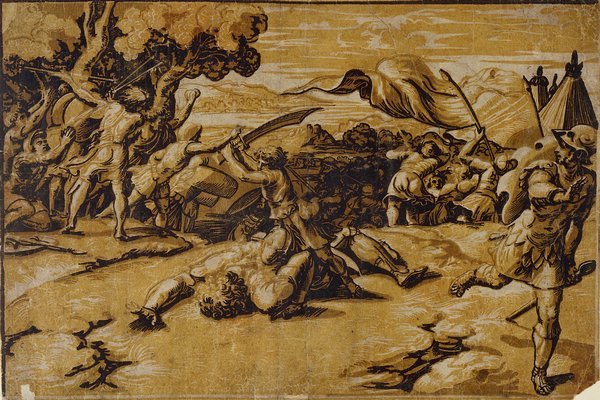 Ugo_da_Carpi_David_and_Goliath_after_Raphael_1520-1525_woodcut