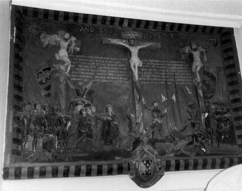 Unknown Rushton Hall Crucifixion 1577 plaster