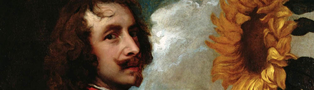Anthony van Dyck (1599-1641), 'Self portrait with a Sunflower', 1632-33, private collection of the Duke of Westminster, detail