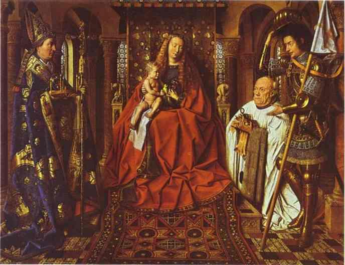 van Eyck The Madonna of Canon van der_Paele_1436