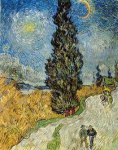 van_gogh_road_with_cypress_and_a_star_1890