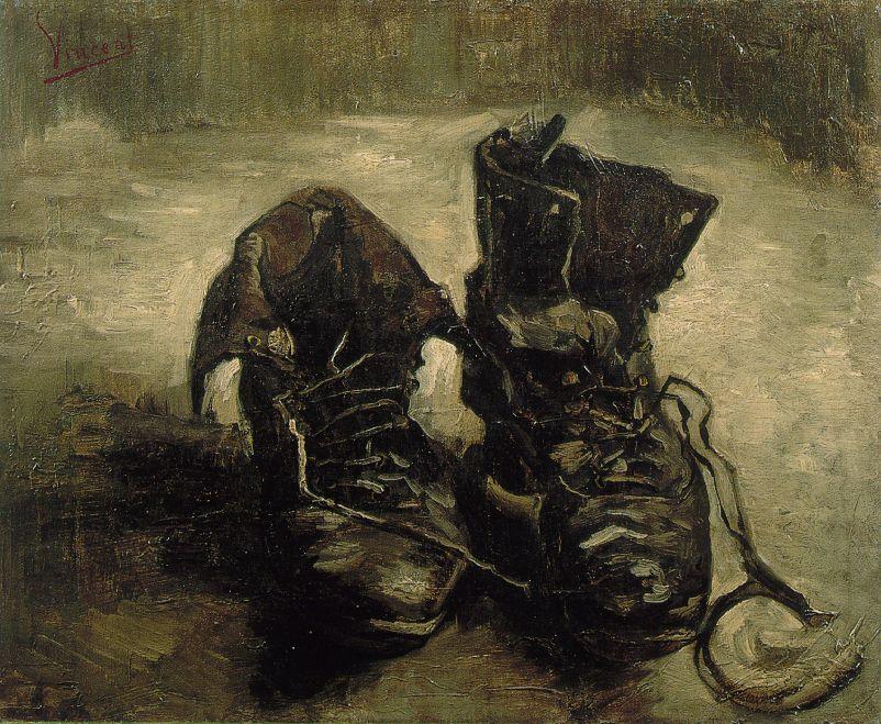 Van_Gogh_Still_Life_of_Shoes_1885