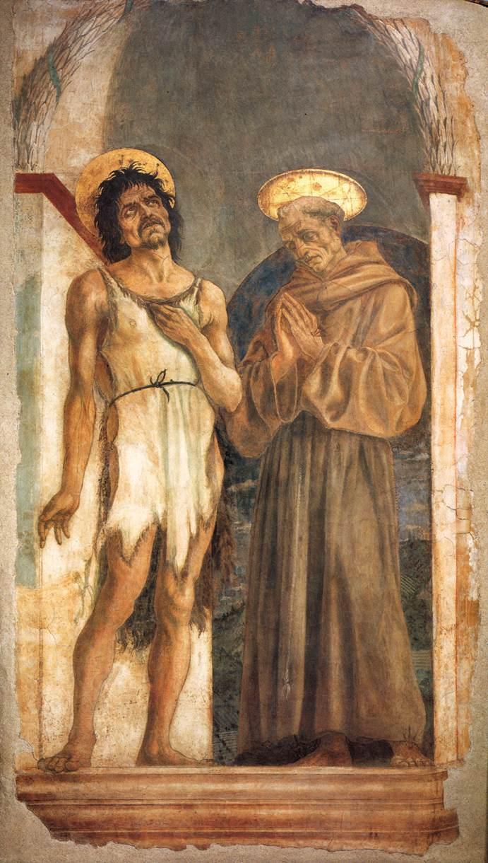 Veneziano_Florence_Santa_Croce_St_John_and_St_Francis_1455