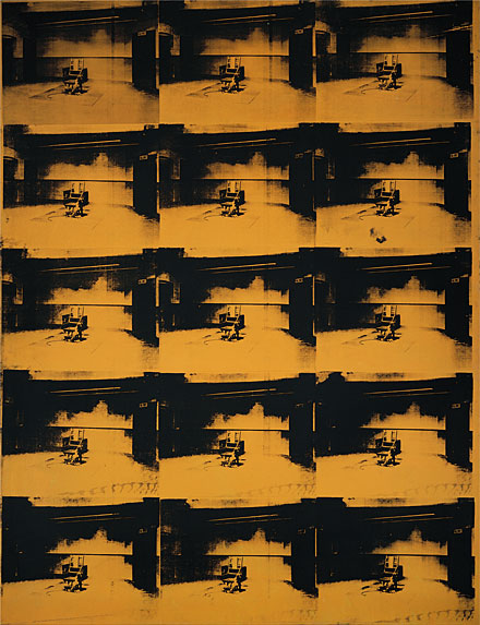Orange Disaster #5, 1963. Acrylic and silkscreen enamel on canvas, 106 x 81 1/2 inches. Solomon R. Guggenheim Museum, Gift, Harry N.   Andy Warhol announced his disengagement from the process of aesthetic creation in 1963: �I think somebody should be able to do all my paintings for me,� he told art critic G.R. Swenson. The Abstract Expressionists had seen the artist as a heroic figure, alone capable of imparting his poetic vision of the world through gestural abstraction....