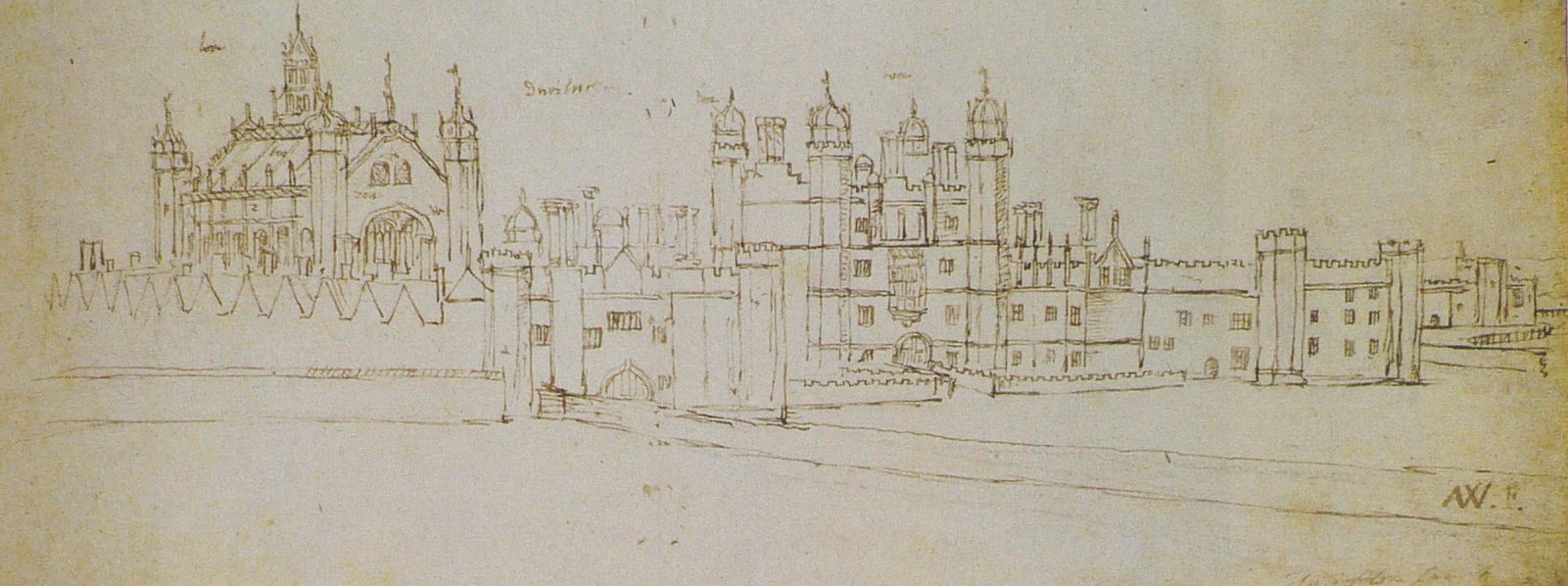 Wyngaerde Hampton Court Gatehouse 1558