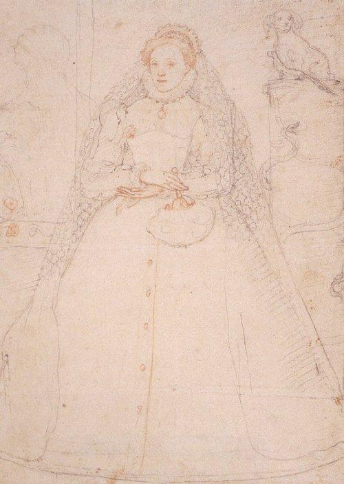 Zuccaro Elizabeth I 1575 drawing
